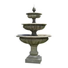 Three Tier Longvue Outdoor Water Fountain, Pietra Nuovo