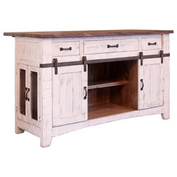 Fancy Farmhouse Kitchen Islands And Kitchen Carts by Crafters and Weavers