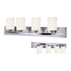 Leria Modern 4-Light Vanity, Nickel