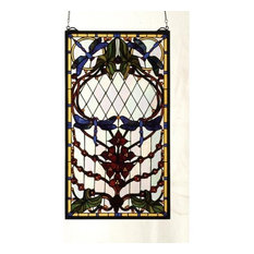 """14""""Wx25""""H Dragonfly Allure Stained Glass Window"""