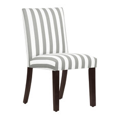 Dining Chair in Canopy Stripe, Storm and Twill