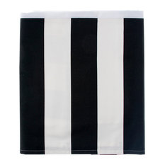 Pippin Black and White Stripe Bed Skirt, Twin