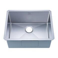 Stufurhome Undermount 16 Gauge Stainless Steel 23 In. Single Bowl Kitchen Sink