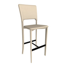 Metro Leather Bar Stool Leather: Sand