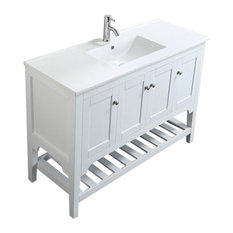 "Aquamoon Rimini 47 7/8"" Bathroom Vanity Set, White"