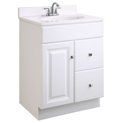 Simple Transitional Bathroom Vanities And Sink Consoles by Design House