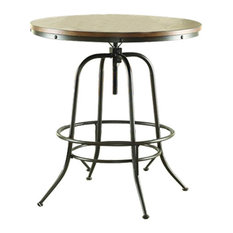 Homelegance Angstrom Round Counter Height Table With Adjustable Height