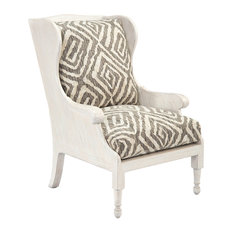 John Richard   John Richard 2052 Fabric Scandinavian Wing Chair   Armchairs  And Accent Chairs