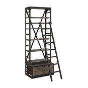Modway EEI-1211-BRN-SET Velocity Wood Bookshelf, Brown