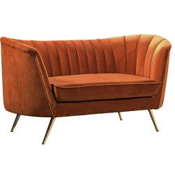 Midcentury Loveseats by Meridian Furniture