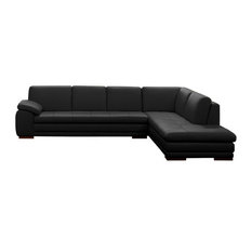 italsofa black leather sofa furniture italsofa jnm furniture 625 modern italian leather sectional by jm black right facing chaise italsofa black sofa sofas houzz