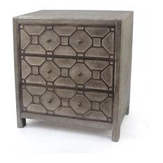 31-inch X 16-inch X 30-inch Brown 3 Drawer Quaint Vintage Wooden Cabinet
