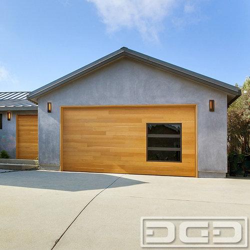 Modern Style Garage Doors in Beautiful Rift Sawn Oak With