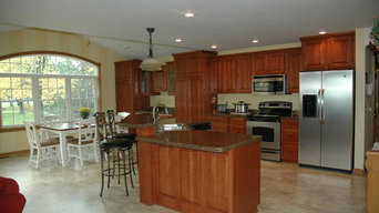Completed kitchen remodel and new dining room addition