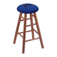Oak Extra Tall Bar Stool Medium Finish With St Louis Blues Seat 36-inch