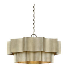 Savoy House Shelby 6-Light Pendant, Silver Patina