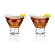 Set of 2 Raye Gem Crystal Martini Glasses by Viski
