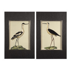 Birds on the Shore Coastal Framed Prints, 2-Piece Set