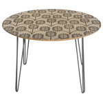Deny Designs - Deny Designs Holli Zollinger Thistle Round Table Steel Legs - Round Table with sleek baltic birch top and ultra smooth durable gloss finish. Steel hairpin legs with the option of clear or gold coating. Care: Wipe clean with non-abrasive rag. Custom made in Denver, CO Note: Accessories not included.