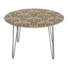 Deny Designs Holli Zollinger Thistle Round Table Steel Legs