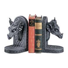 Gray Friar Dragon Bookends