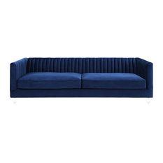 MOD - Ivan Velvet Sofa, Navy Blue - Sofas