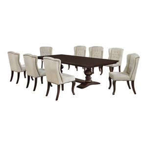 9-Piece Dining Set, Cappuccino