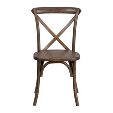 Flash Furniture   Hercules Series Stackable Early American Wood Cross Back  Chair   Dining Chairs