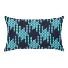 Elaine Smith Quilted Pixel Lumbar Pillow