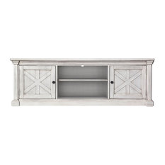 Furniture Of America Vallie Cottage Wood 72-inch TV Stand In Antique White