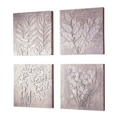 Square Botanicals Art (4 Pieces)