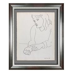 Henri Matisse Lithographs, Original Lithograph, Monique, Catalogue, Framed