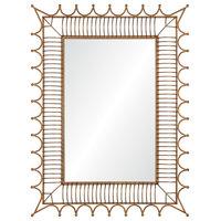 Mirror- Antiqued Gold Iron - Contemporary