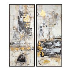 Life Scenes Abstract Art, 2-Piece Set
