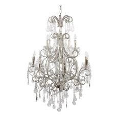 Versailles 12-Light Chandelier, Silver