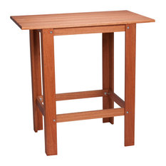 Hinkle Chair, Cinnamon Finish, Red Grandis Pub Table