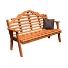 5' Cedar Marlboro Garden Bench, Gray
