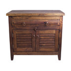 3 Drawer Reclaimed Wood Vanity Rustic Bathroom
