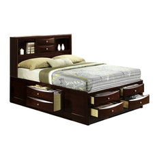 Picket House Furnishings Madison Queen Storage Bed in Mahogany
