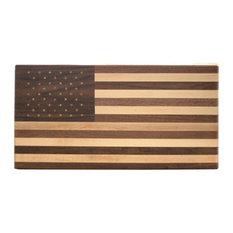 Walnut and Maple Wood American Flag Cutting Board
