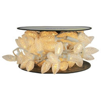 Commercial 100-LED Faceted C9 Christmas Lights on Spool, White Glass