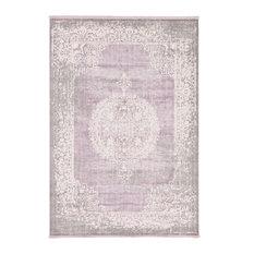 Unique Loom Olwen New Classical Area Rug, Purple, 7'x10'