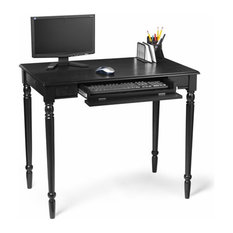Convenience Concepts - French Country Computer Desk in Sleek Black - Desks  and Hutches