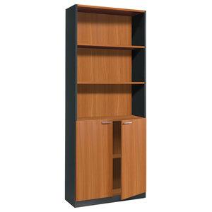 Estil Chestnut Bookcase With Doors