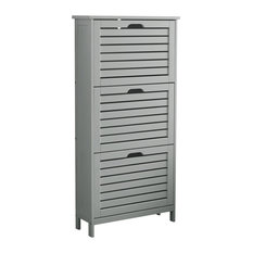 Bergen 3-Tier Shoe Cabinet, Grey