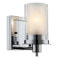 hardware house avalon 1 light wall fixture chrome bathroom vanity lighting