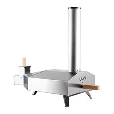 WOODPELLETPIZZAOVEN - Uuni 3 Wood Pellet Pizza Oven, Stainless - Outdoor Pizza Ovens