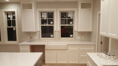 Casing On Low Hanging Window Above Sink