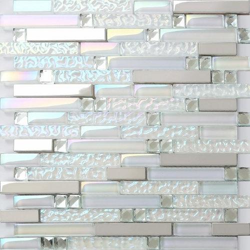 Crystal glass mosaic tile kitchen bathroom backsplash tiles wall stickers