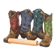 Accent Plus - Cowboy Boots Toilet Paper Holder - Toilet Paper Holders